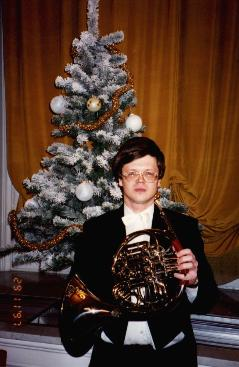 Andrey with his Alexander horn